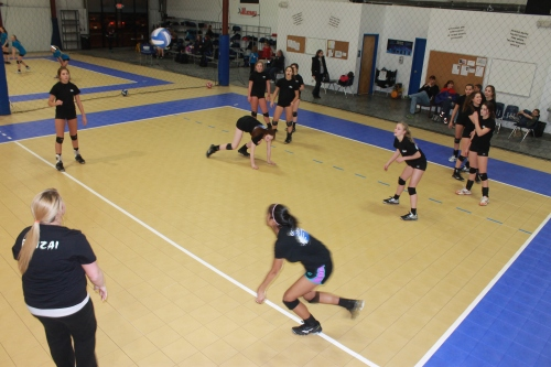 Members of the Nebraska Impact 141 Banzai team go through drills during a practice earlier this week.